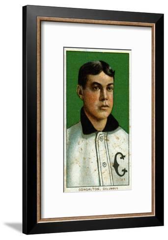 Columbus, OH, Columbus Minor League, Bunk Congalton, Baseball Card-Lantern Press-Framed Art Print