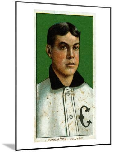 Columbus, OH, Columbus Minor League, Bunk Congalton, Baseball Card-Lantern Press-Mounted Art Print