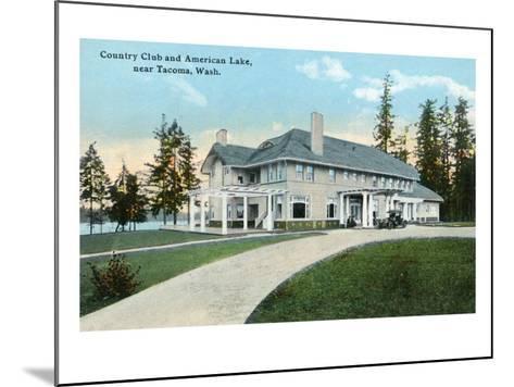American Lake, Washington, Exterior View of the Country Club near Tacoma-Lantern Press-Mounted Art Print