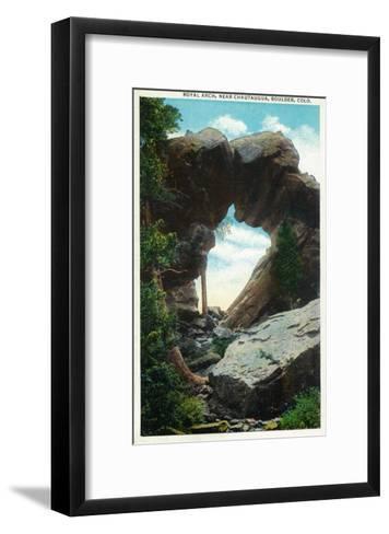 Boulder, Colorado, View of the Royal Arch Rock Formation near Chautauqua-Lantern Press-Framed Art Print