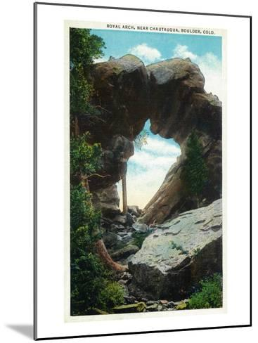 Boulder, Colorado, View of the Royal Arch Rock Formation near Chautauqua-Lantern Press-Mounted Art Print