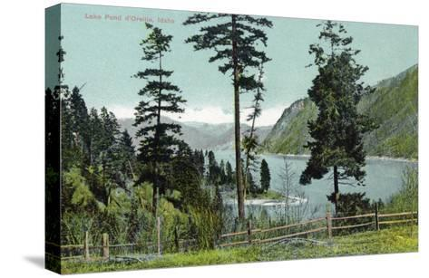 Lake Pend d'Oreille, Idaho, View of the Lake from a Fenced in Yard-Lantern Press-Stretched Canvas Print