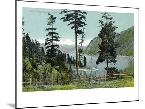 Lake Pend d'Oreille, Idaho, View of the Lake from a Fenced in Yard-Lantern Press-Mounted Art Print