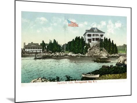 Narragansett, Rhode Island, Bay View of the Squantum Club-Lantern Press-Mounted Art Print