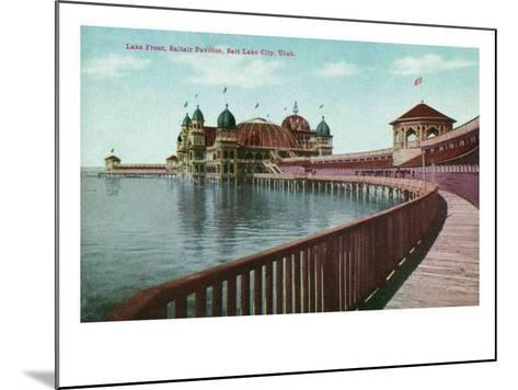 Utah, View of the Great Salt Lake Front from the Saltair Pavilion Boardwalk-Lantern Press-Mounted Art Print