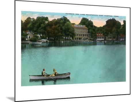 East Hampton, Connecticut, Lake Pocotopaug View of Kayrock Inn-Lantern Press-Mounted Art Print