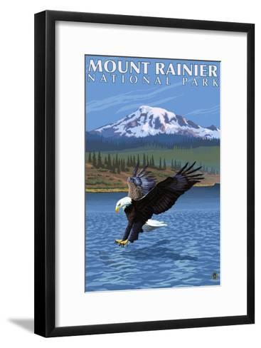 Mt. Rainier National Park, Washington, Eagle Fishing-Lantern Press-Framed Art Print
