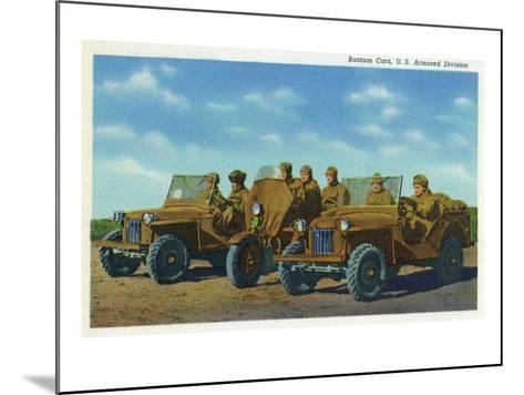 View of Soldiers in Bantam Cars in the US Armored Division-Lantern Press-Mounted Art Print