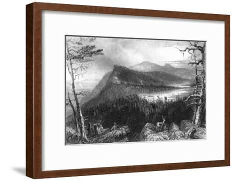 Catskill Mountains, New York, View of Two Lakes and the Mountain House-Lantern Press-Framed Art Print