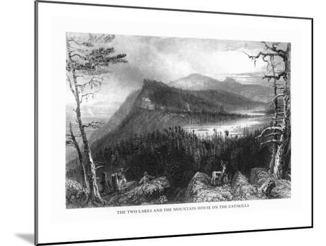 Catskill Mountains, New York, View of Two Lakes and the Mountain House-Lantern Press-Mounted Art Print