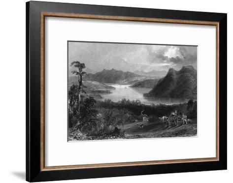 Quebec, Canada, Panoramic View of Lake Massawippi-Lantern Press-Framed Art Print