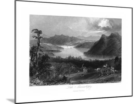 Quebec, Canada, Panoramic View of Lake Massawippi-Lantern Press-Mounted Art Print