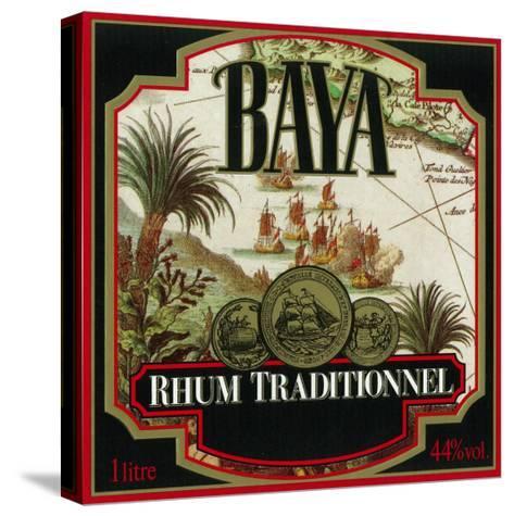 Rhum Traditionnel Baya Brand Rum Label-Lantern Press-Stretched Canvas Print