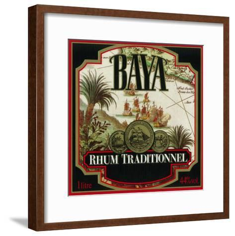 Rhum Traditionnel Baya Brand Rum Label-Lantern Press-Framed Art Print