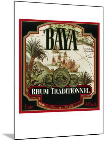 Rhum Traditionnel Baya Brand Rum Label-Lantern Press-Mounted Art Print