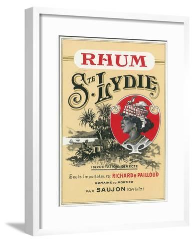 Rhum Ste. Lydie Brand Rum Label-Lantern Press-Framed Art Print