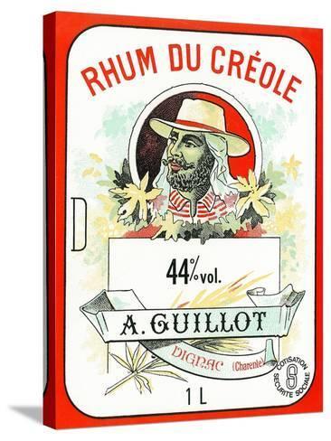 Rhum du Creole Brand Rum Label-Lantern Press-Stretched Canvas Print