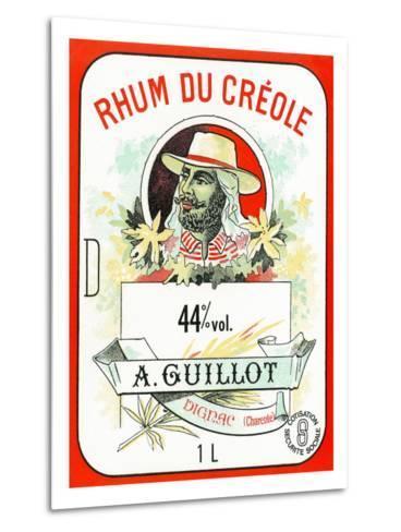 Rhum du Creole Brand Rum Label-Lantern Press-Metal Print