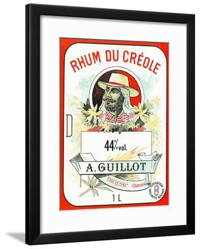 Rhum du Creole Brand Rum Label-Lantern Press-Framed Art Print