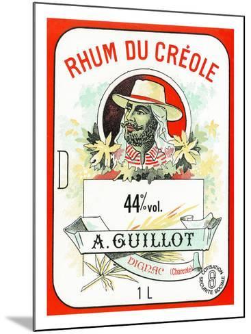 Rhum du Creole Brand Rum Label-Lantern Press-Mounted Art Print