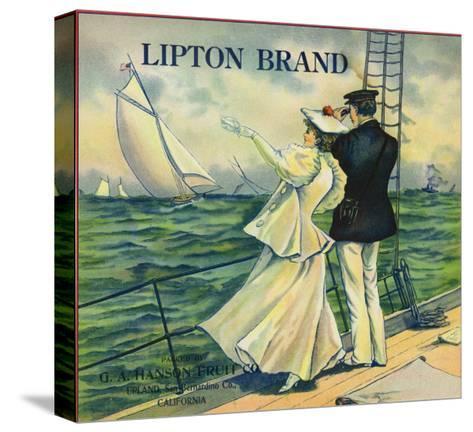 Upland, California, Lipton Brand Citrus Label-Lantern Press-Stretched Canvas Print