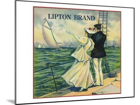 Upland, California, Lipton Brand Citrus Label-Lantern Press-Mounted Art Print