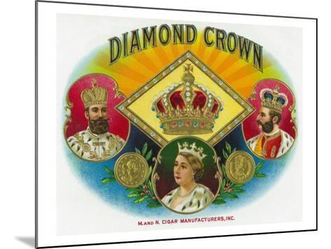 Diamond Crown Brand Cigar Box Label-Lantern Press-Mounted Art Print