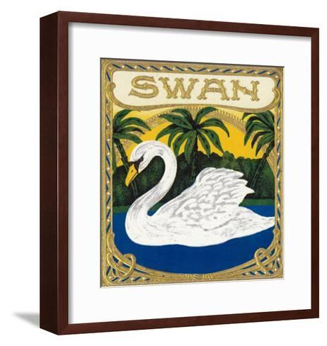 Swan Brand Cigar Box Label-Lantern Press-Framed Art Print