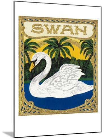 Swan Brand Cigar Box Label-Lantern Press-Mounted Art Print