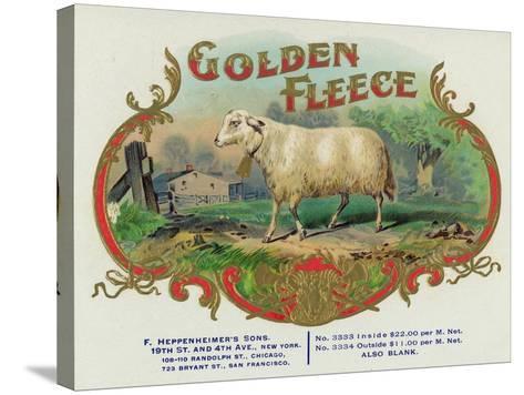 Golden Fleece Brand Cigar Box Label-Lantern Press-Stretched Canvas Print