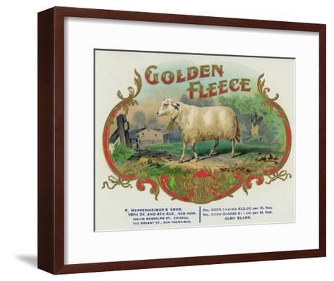 Golden Fleece Brand Cigar Box Label-Lantern Press-Framed Art Print