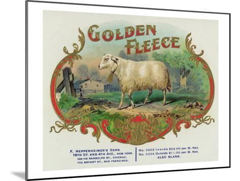 Golden Fleece Brand Cigar Box Label-Lantern Press-Mounted Art Print