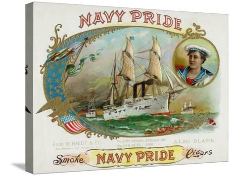 Navy Pride Brand Cigar Box Label-Lantern Press-Stretched Canvas Print