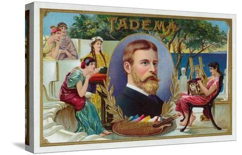 Tadema Brand Cigar Box Label-Lantern Press-Stretched Canvas Print