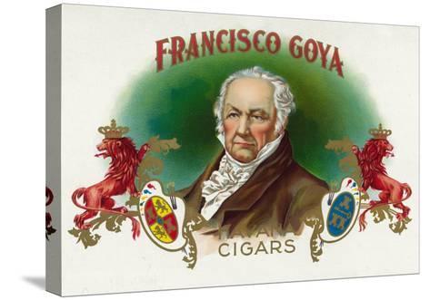 Francisco Goya Brand Cigar Box Label-Lantern Press-Stretched Canvas Print