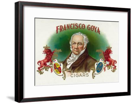 Francisco Goya Brand Cigar Box Label-Lantern Press-Framed Art Print