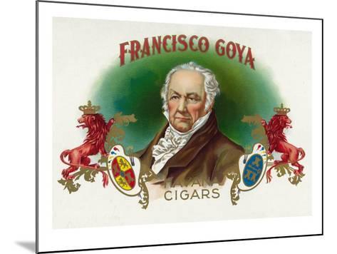 Francisco Goya Brand Cigar Box Label-Lantern Press-Mounted Art Print