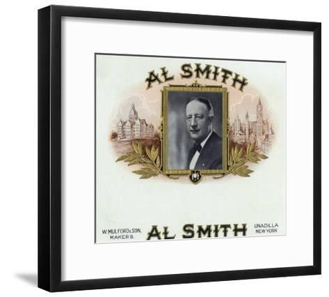 Al Smith Brand Cigar Box Label, Former Governor of New York-Lantern Press-Framed Art Print