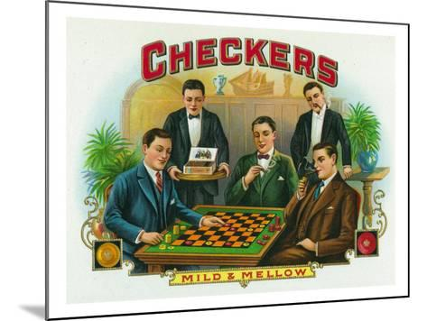 Checkers Brand Cigar Box Label-Lantern Press-Mounted Art Print