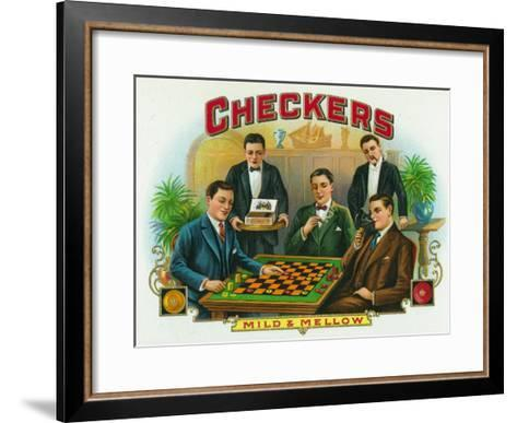 Checkers Brand Cigar Box Label-Lantern Press-Framed Art Print