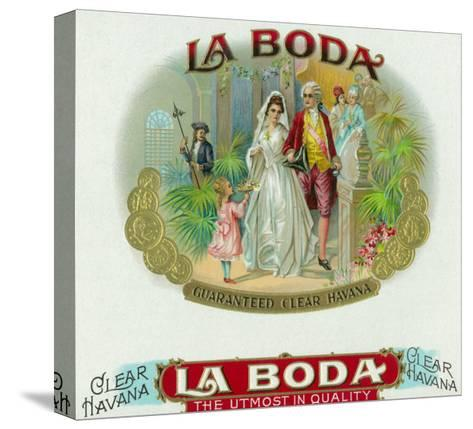 La Boda Brand Cigar Box Label-Lantern Press-Stretched Canvas Print