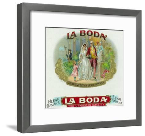La Boda Brand Cigar Box Label-Lantern Press-Framed Art Print