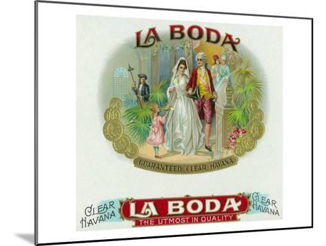 La Boda Brand Cigar Box Label-Lantern Press-Mounted Art Print
