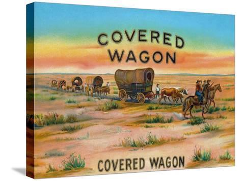 Covered Wagon Brand Cigar Box Label-Lantern Press-Stretched Canvas Print