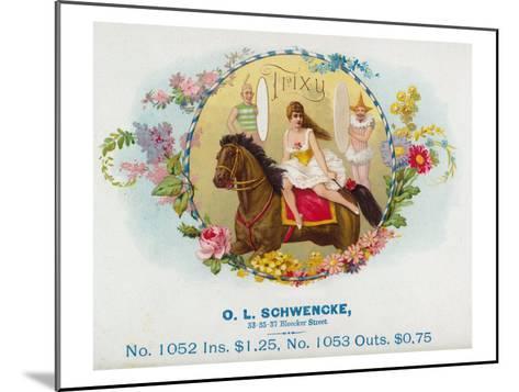 Trixy Brand Cigar Box Label-Lantern Press-Mounted Art Print