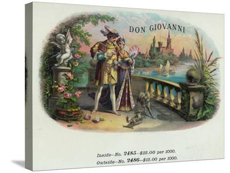 Don Giovanni Brand Cigar Inner Box Label-Lantern Press-Stretched Canvas Print