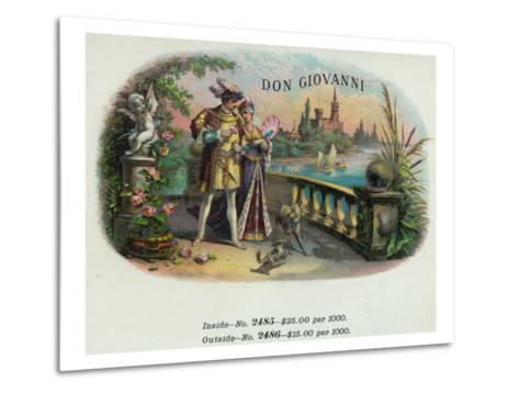 Don Giovanni Brand Cigar Inner Box Label-Lantern Press-Metal Print