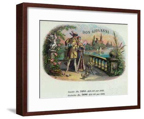 Don Giovanni Brand Cigar Inner Box Label-Lantern Press-Framed Art Print