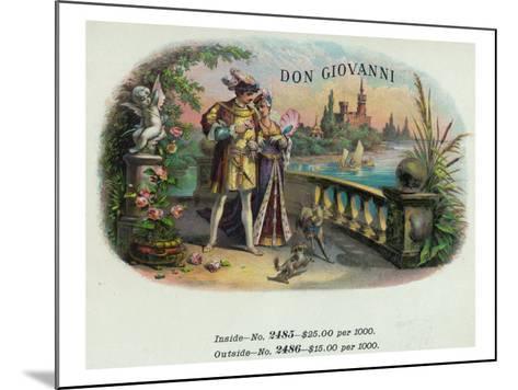 Don Giovanni Brand Cigar Inner Box Label-Lantern Press-Mounted Art Print