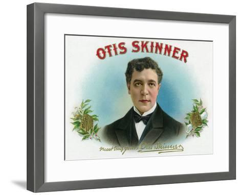 Otis Skinner Brand Cigar Box Label-Lantern Press-Framed Art Print